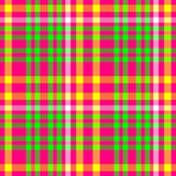 Hot pink green check diamond tartan plaid fabric seamless pattern Royalty Free Stock Photo