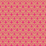 Hot Pink & Green vintage Paisley damask wallpaper. Hot pink and green vintage Paisley damask wallpaper - seamless repeat pattern Stock Images