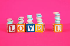 Hot Pink Love Stock Image