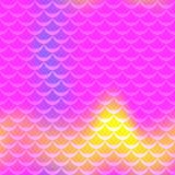Hot pink mermaid skin  seamless pattern. Feminine iridescent background. Fish scale pattern. Fishscale pattern swatch. Holographic gradient. Mermaid skin Royalty Free Stock Photos