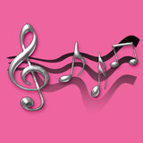 Hot pink music illustration Stock Photography