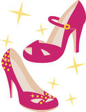 Hot Pink Pumps. With sparkle and glitz Royalty Free Stock Images