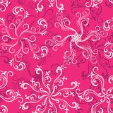Hot pink seamless floral pattern Royalty Free Stock Image