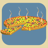 Hot pizza Royalty Free Stock Photography