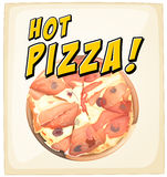 A hot pizza Royalty Free Stock Image