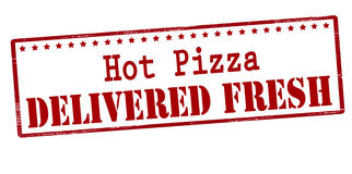 Hot pizza delivered fresh. Rubber stamp with text hot pizza delivered fresh inside, vector illustration Stock Image
