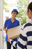 Hot pizza delivery stock photos