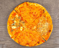 Hot pizza four cheese Royalty Free Stock Images