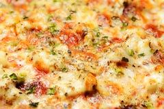 Pizza macro shot Stock Photography