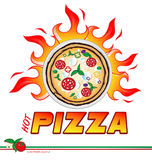 Hot pizza  project. The  hot pizza  projectexpress design Stock Photo
