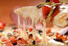 Pizza Margherita on dark wooden background  stock photos
