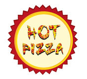 Hot pizza tag Stock Photography