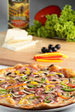 Hot pizza and tasty pizza Royalty Free Stock Image
