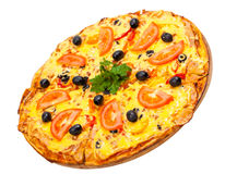 Hot a pizza with tomatoes Stock Photography