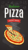 Hot Pizza Vector Royalty Free Stock Image