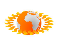Hot planet Royalty Free Stock Images