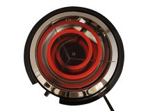 Hot Plate. Red hot electric portable hot plate stove Royalty Free Stock Photo