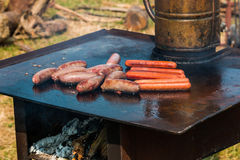 Hot Plate BBQ Stock Photos