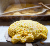 Hot polenta Stock Images