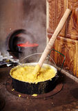 Hot polenta cooking Royalty Free Stock Photo