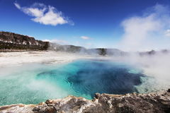 Hot pool spring Royalty Free Stock Images