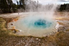Hot pool in Yellowstone. National Park, Wyoming, USA Stock Image