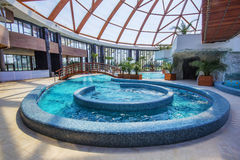 Hot pools at Nymphaea Aquapark in Oradea, Romania Stock Images