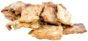 Hot pork cutlets. On white background Stock Images