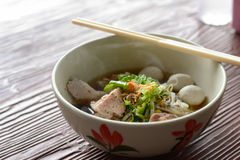 Hot pork noodles, Asian dish Stock Photos