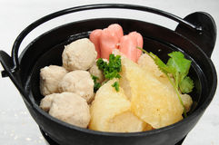 Hot pot. Chinese fast-food restaurant hot pot Royalty Free Stock Images