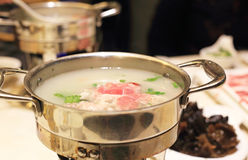 Hot pot. The delicious traditional Chinese hotpot Stock Image