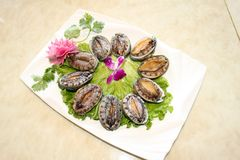 Hot pot dishes abalone. Chinese food Royalty Free Stock Photography