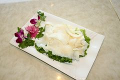 Hot pot dishes board muscle. Chinese food Stock Photo