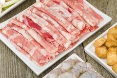 Hot Pot Ingredients Stock Photo