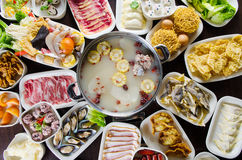Hot pot meals Royalty Free Stock Image