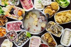 Hot pot meals royalty free stock image