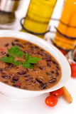 Hot pot of red kidney beans with celery Royalty Free Stock Photography