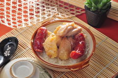 Hot pot sausage chicken wing Royalty Free Stock Images