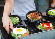Hot pot street food Stock Photos