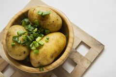 Hot potato with onion Royalty Free Stock Photo