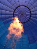 Hot power inside. Hot air balloon from inside royalty free stock photo