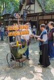 Hot Pretzel Vendor Stock Photos