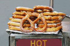 Hot Pretzels. Royalty Free Stock Images