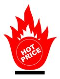 Hot price. Vector illustration - Hot price label royalty free illustration