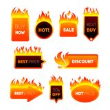 Hot Price Badges Royalty Free Stock Photography