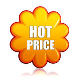 Hot price orange flower label Stock Images