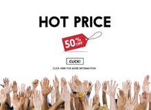Hot Price Big Sale Deduction Advertisement Retail Concept Stock Photo
