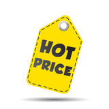 Hot price hang tag. Vector illustration.  Stock Image