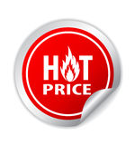 Hot price icon Stock Photography