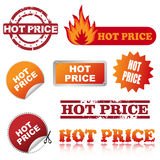 Hot price icons stock photos